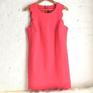 J. Crew pink scallop hem shift dress #63746